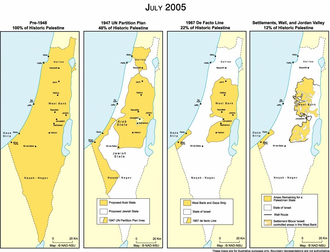 Gaza World Map