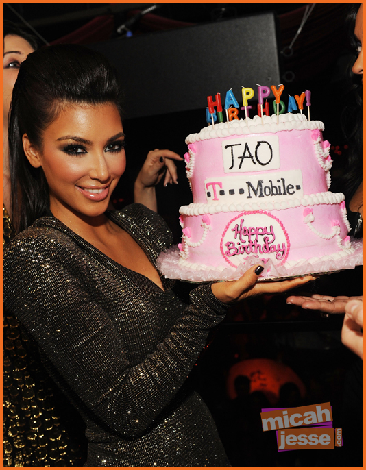 Kim Kardashian Celebrates Her 29th Birthday At TAO With  T-Mobile's Motoro