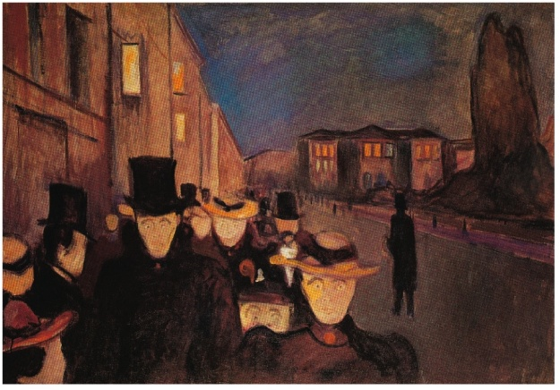 Evening on Karl Johan Street 1892 Munch