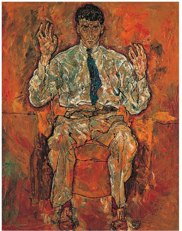 Portrait of Albert Paris von Gutersloh Schiele 1918