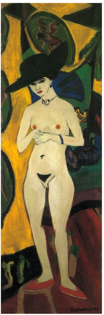 Standing Nude With Hat Kirchner 1910-20