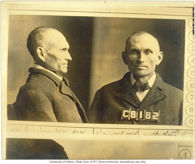 1366-Prison-mug-shot-of-Edgar-V428-and-corresponding-entry-in-i-The-Jukes-in-1915-i-by-A-H-Estabrook-photo-laid-in-copy-of-R-Dugdale-s-The-Jukes.jpg