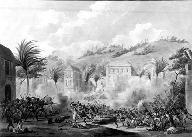The French in Action against the Creoles at Cap Français, San Domingo, 1802