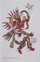 Codex Borbonicus- page 22- det.- Quetzalcoatl, Feathered Serpent