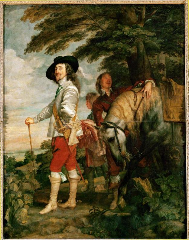 Charles I (1600-1649) in the Hunting Field (Charles I, King of England, During a Hunting Party)vanDyck1636.jpg