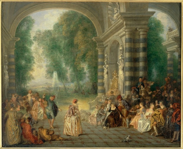 Watteau1717GatheringUnderAnArcade
